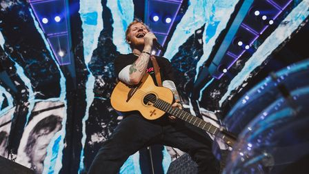 Ed Sheeran has been named as the number one artist of the decade. Here he is pictured during his sec