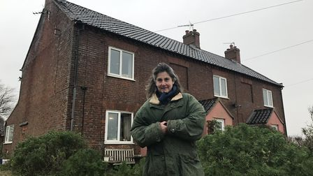 Time to go. Juliet Blaxland's home at Easton Bavents near Southwold is set to be demolished after se