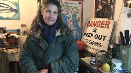 Juliet Blaxland's home at Easton Bavents near Southwold is set to be demolished after several metres