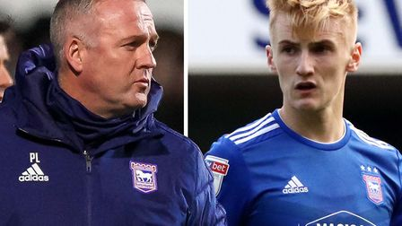 Paul Lambert and Flynn Downes who, along with other young players, is praised by the Town boss. Pict
