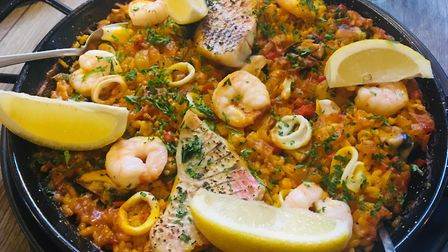 Seafood paella at The Ram, Hadleigh Picture: Charlotte Smith-Jarvis