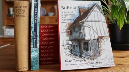 The new edition of Suffolk Scene alongside the 1938 and 1983 offerings Picture: Poppyland Publishin