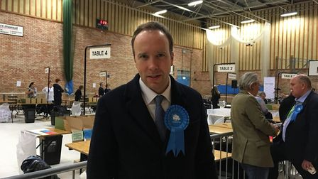 Matt Hancock has retained his West Suffolk seat following the 2019 General Election