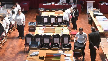 Votes being counted in Ipswich following the 2019 election vote Picture: BRITTANY WOODMAN