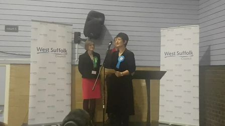 Jo Churchill was re-elected as MP for Bury St Edmunds. Picture: ARCHANT