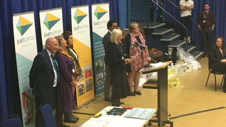 Candidates await the result of the Suffolk Coastal count Picture: ARCHANT