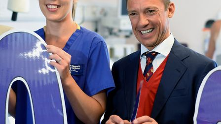 """Frankie Dettori launching the West Suffolk Hospital My WiSH Charity """"Every Heart Counts Appeal """""""