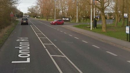 A section of the A12 is currently closed near Pontins holiday park in Pakefield as emergency service