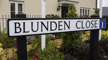 Blunden Close in Long Melford is named after war poet Edmund Blunden, who lived in the village in th