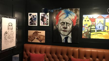 Artwork by prisoners at The Unruly Pig in Bromeswell Picture: Brendan Padfield