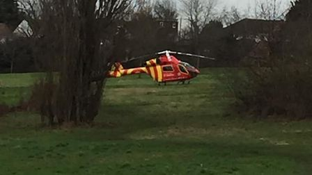 An air ambulance was called to a quad bike incident in Colchester Picture: ROSS LEE BARNHAM