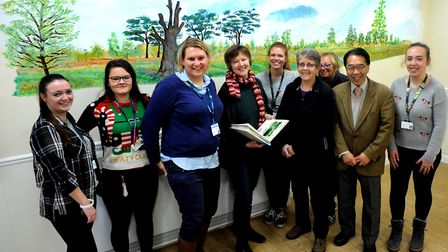 Norfolk and Suffolk NHS Foundation Trust patients at Wedgewood House in Bury St Edmunds brighten up