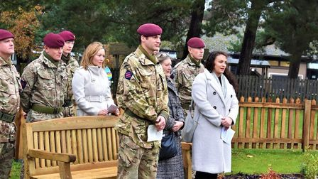 Members of L/Cpl Jones' family attended the ceremony in honour of the fallen soldier who died in Jun