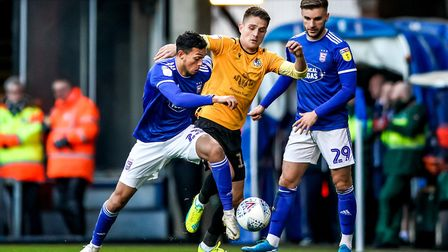 Andre Dozzell in action during the defeat against Bristol Rovers.Picture: Steve Waller www.ste