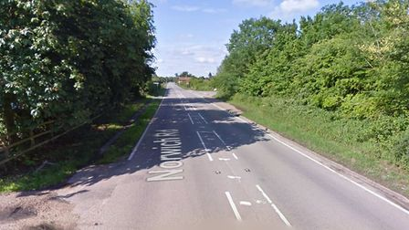 The crash took place along Norwich Road, in Brome, just before midday Picture: GOOGLE MAPS