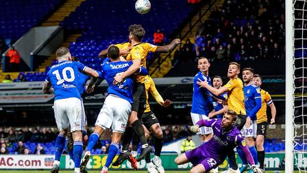 Town press for an equaliser against Bristol Rovers last week. Picture: Steve Waller www.stephe