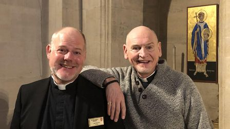 The Very Reverend Joe Hawes and his partner Chris