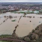 Bill Hiskett has captured the extent of the flooding at Sudbury water meadows using his drone Pictur