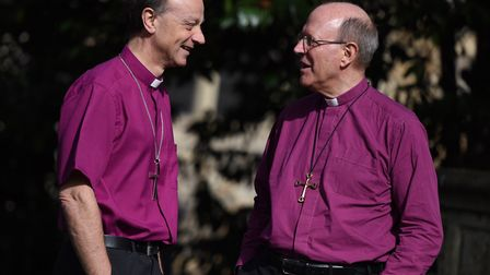 Bishop Mike and Bishop Martin will be visiting prisons on Christmas Day Picture: GREGG BROWN