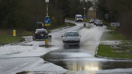 A number of flood alerts remain in place across Suffolk Picture: SARAH LUCY BROWN
