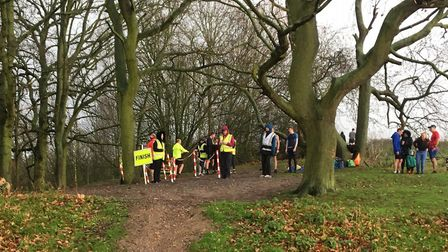 The uphill finish to the Hadleigh parkrun, in Hadleigh Country Park, south-east Essex. Picture: CARL