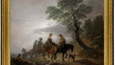 The Thomas Gainsborough piece 'Going to Market, Early Morning', which has had an export bar placed o