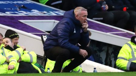 Paul Lambert pictured during Ipswich Town's 1-0 defeat at Portsmouth Photo: ROSS HALLS