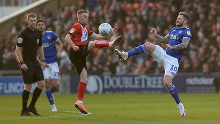 James Norwood battles at Lincoln City Picture Pagepix