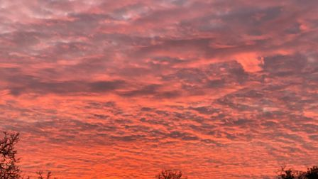 A stunning sunset - did you see it? Picture: ARCHANT