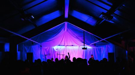 The gig was held inside The Longshed courtesy of the Woodbridge Riverside Trust. Picture: NICK ILOT