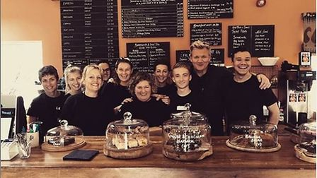 World-famous chef Gordon Ramsay was pictured at the Folk Cafe in Suffolk this year. Picture: FOLK CA