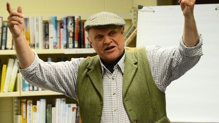 Suffolk dialect expert Charlie Haylock. A report about Suffolk dialect attracted a lot of interest o