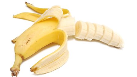 """This banana has been opened from the """"other end"""" - a piece of advice Jake Foxford finds useful. Pict"""