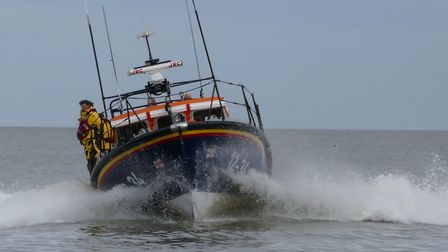 The Aldeburgh RNLI out at sea Picture: CARON HILL/RNLI