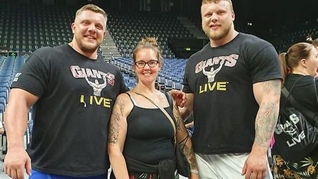 Jo Dunnett has been lucky enough to meet some of the world's strongest men, she is picture here with
