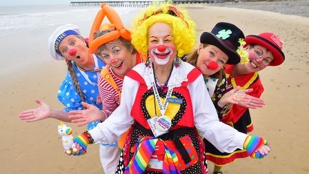 Clowns at the convention in 2016. Lowestoft is once again hosting the event in 2020. Picture: NICK B