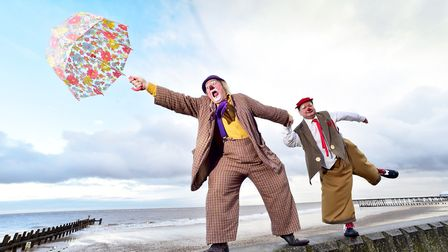 Clowns from around the world come to Lowestoft for the annual event. Picture: NICK BUTCHER