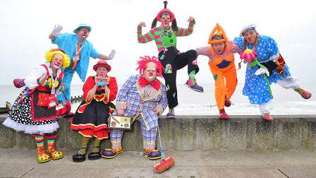 The clowns will make an appearance at Lowestoft's Beacon Bingo in 2020. Picture: NICK BUTCHER