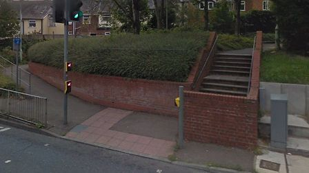 The altercation happened near the steps of the St Andrew's Street car park in Bury Picture: GOOGLE M