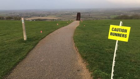 The rather foreboding scene before the start of last Saturday's Dunstable Downs parkrun. Picture: CA
