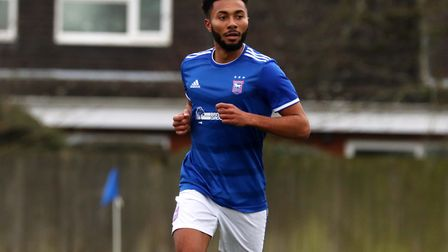 Grant Ward pictured duringTown U23s 2-1 win over Crystal Palace at Playford Road Photo: ROSS HALLS