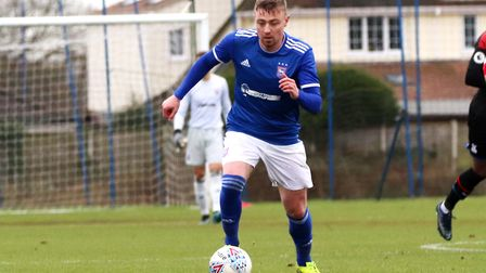 Freddie Sears in action for Town U23s during their 2-1 win over Crystal Palace at Playford Road Phot