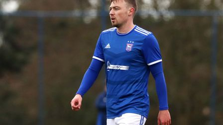Freddie Sears pictured during Town U23s 2-1 win over Crystal Palace at Playford Road Photo: ROSS HA