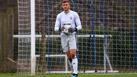 Adam Przybek in action for Town U23s during their 2-1 win over Crystal Palace at Playford Road Photo