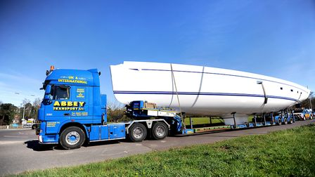 Boats are regularly moved across the county via the A12 and A14, with many coming to Ipswich Haven M