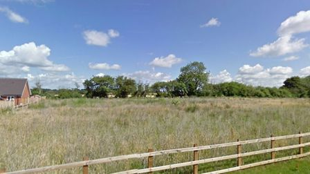 Part of the site off Post Mill Lane in Fressingfield, where C.E. Davidson hope to build 18 homes Pic