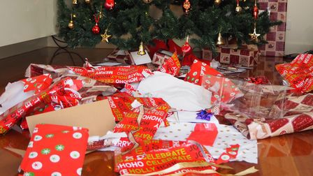 Wrapping paper, Christmas trees and cards are among the items that can be recycled