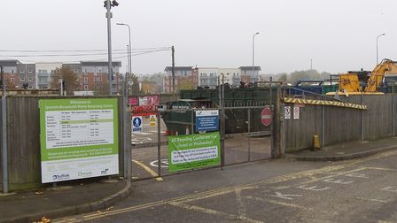 Portman Walk Recycling Centre in Ipswich Picture: SAM DAWES