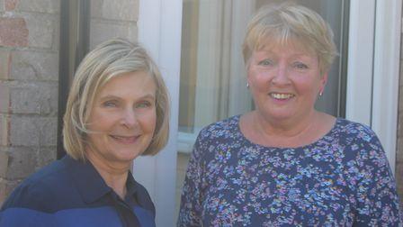 Julie Smith (right) with councillor Sara Mildmay-White (LEFT) Picture: WEST SUFFOLK COUNCIL