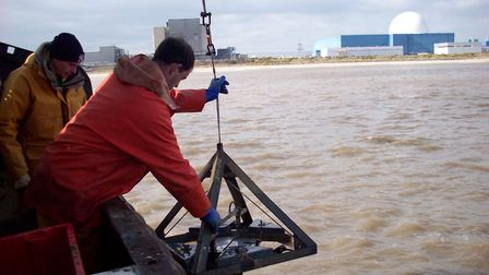 Marine studies taking place off Sizewell as part of the preparatory work for Sizewell C Picture: ED